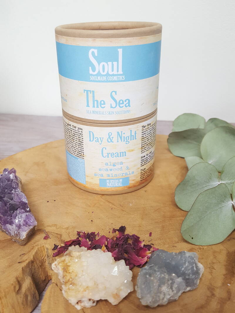 Soulmade Cosmetics The Sea Day & Night Cream | vochtarme huid