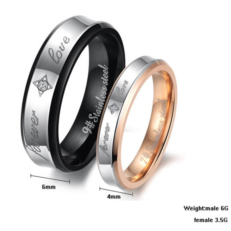 Ring Stainless-Steel Black - Rose Gold