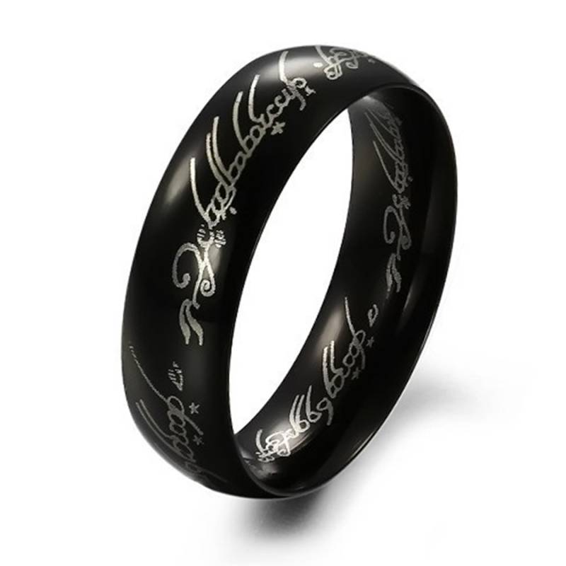 Ring Stainless-Steel Black - Lord of the Rings
