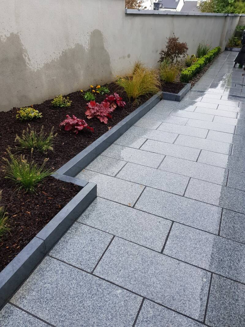 Silver Granite Paving - Bush Hammered