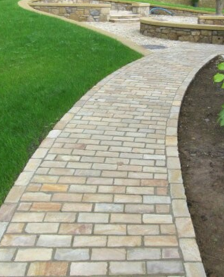 Mint Sandstone Cobbles - Natural
