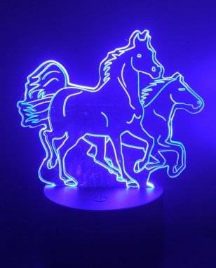 Running horses LED lamp