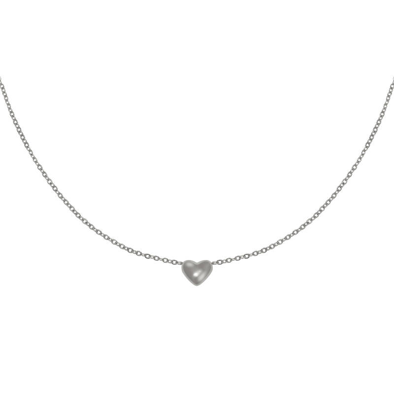 Always in my Heart Necklace silver