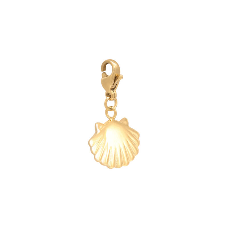 DIY Clasp Charm Clam Shell gold