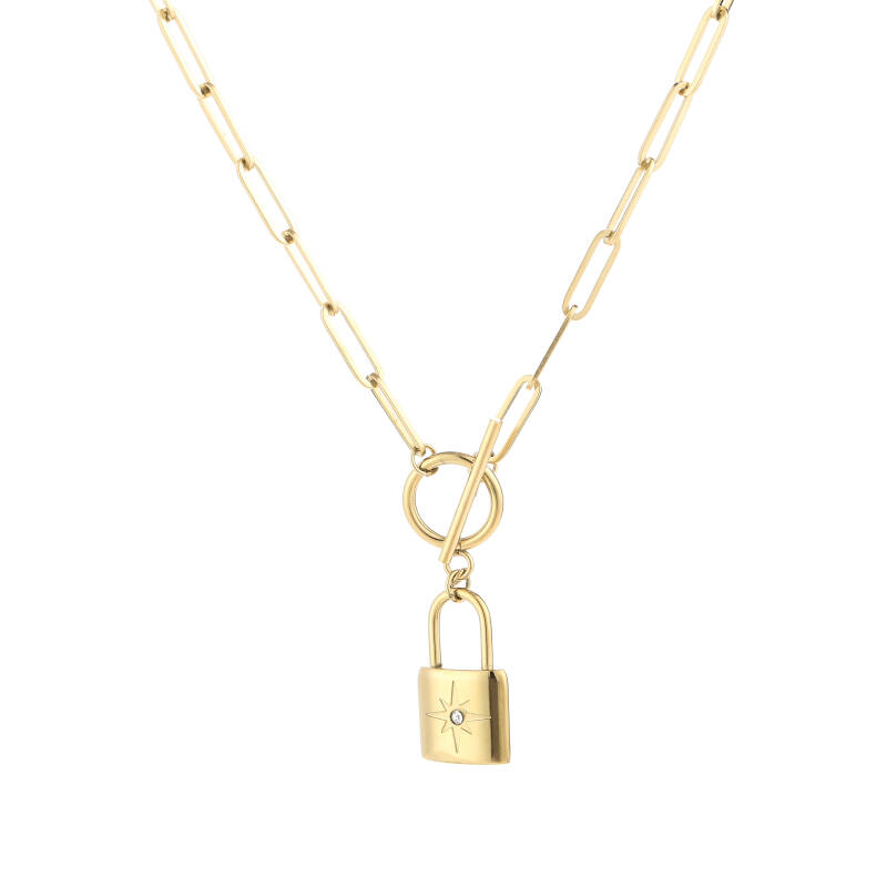 Lock Necklace gold