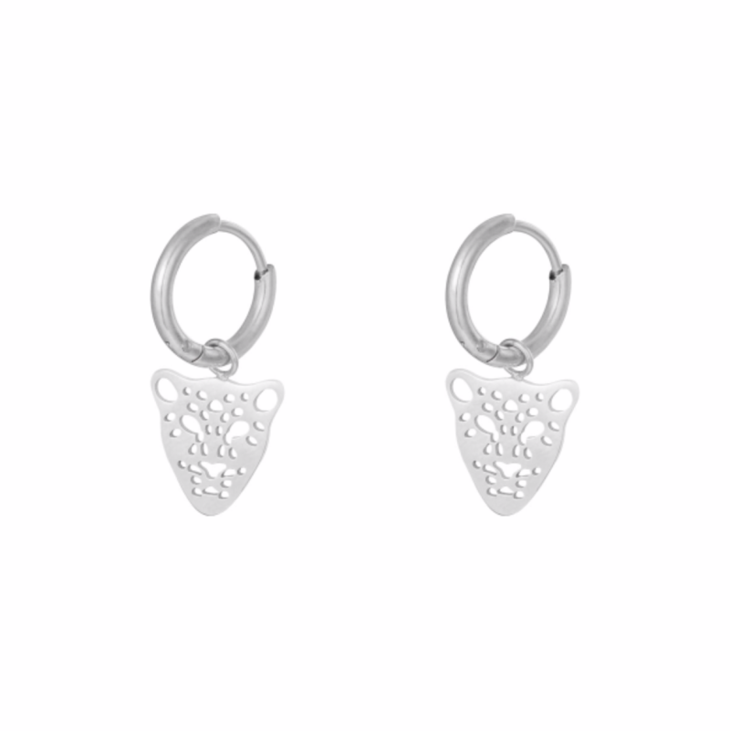 Panther Earrings silver