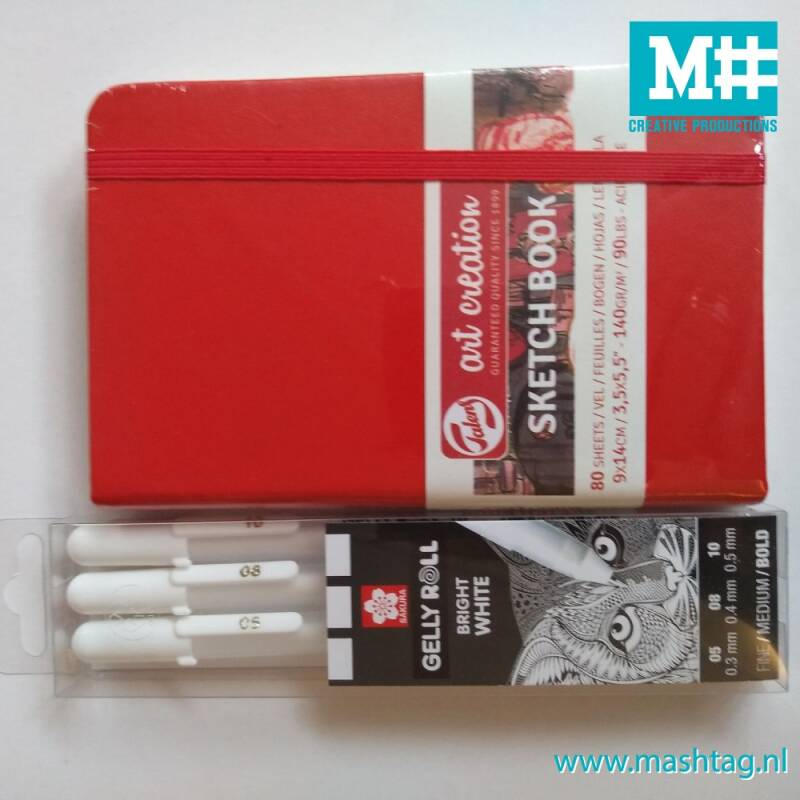 Note book mini & gelly roll wit