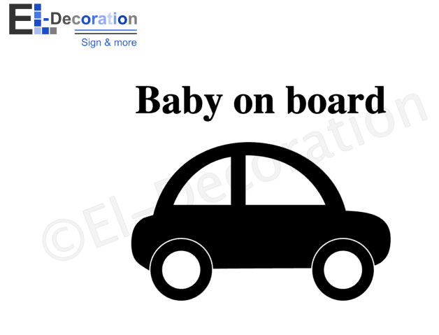 Autosticker on board