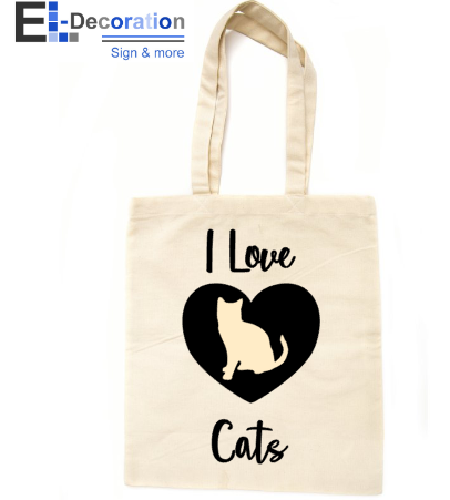 Katoenen tas I love cats
