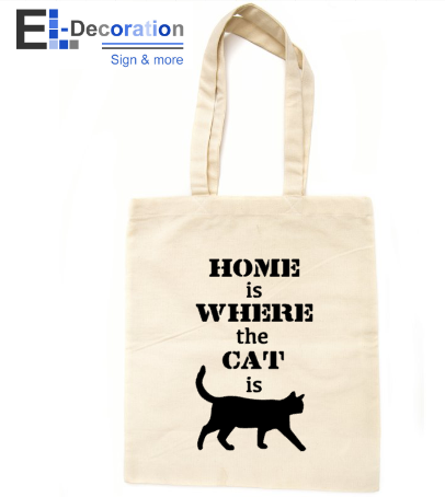 Katoenen tas Home is where the Cat is