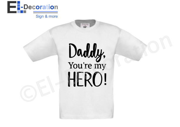 Kinder t-shirt ''Daddy hero''