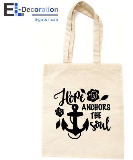 Katoenen tas Hope anchors the soul