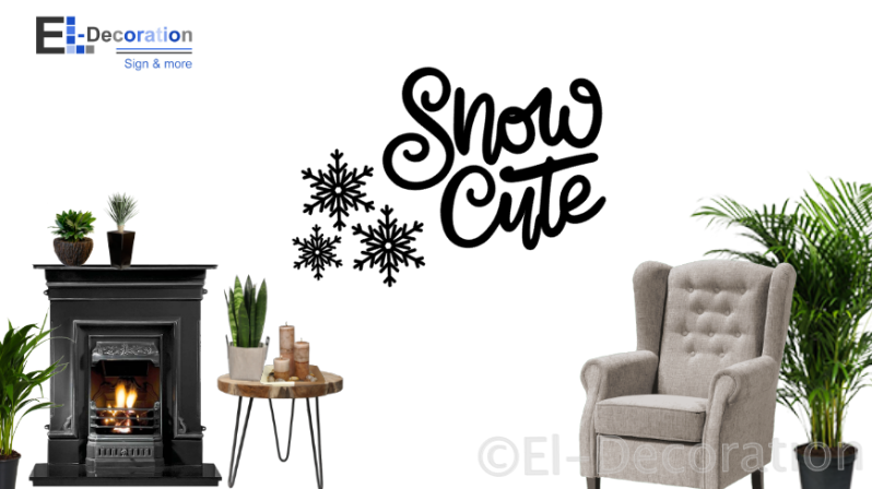 Kerststicker Snow Cute