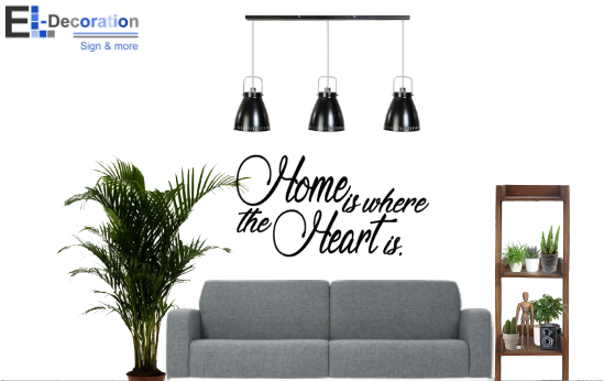 Sticker Home is where the heart is