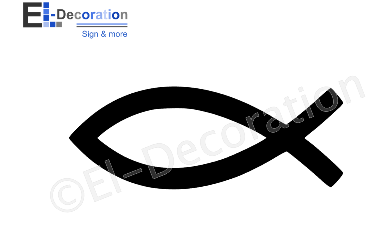 Ichthus symbool sticker