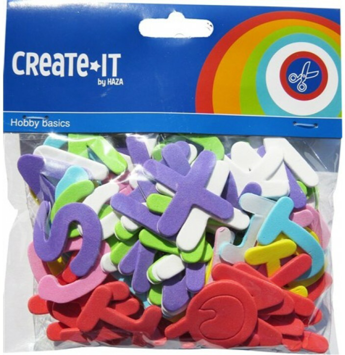 Create-It Foam letters 104 stuks