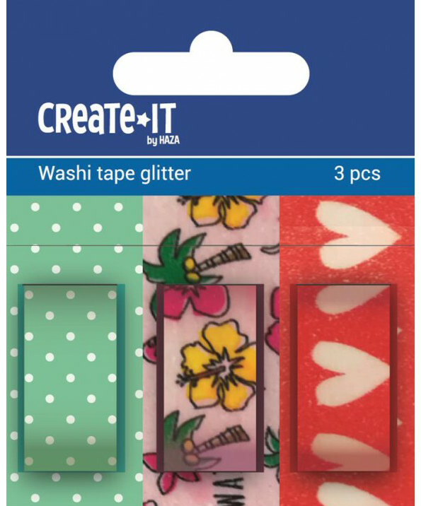 Washi tape Create-it mix 3 stuks