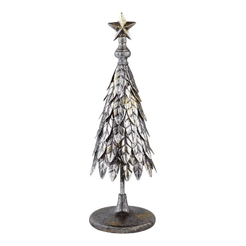 Christmas blitzer metal grey tree feather s