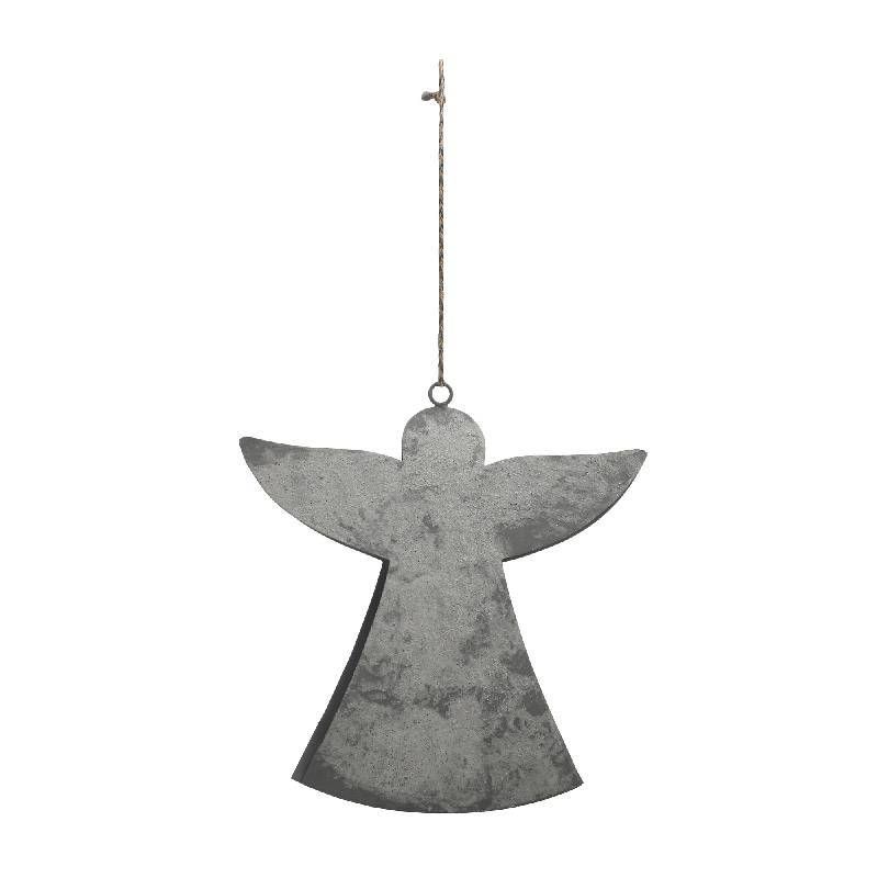 Christmas roxy grey iron hanging angel