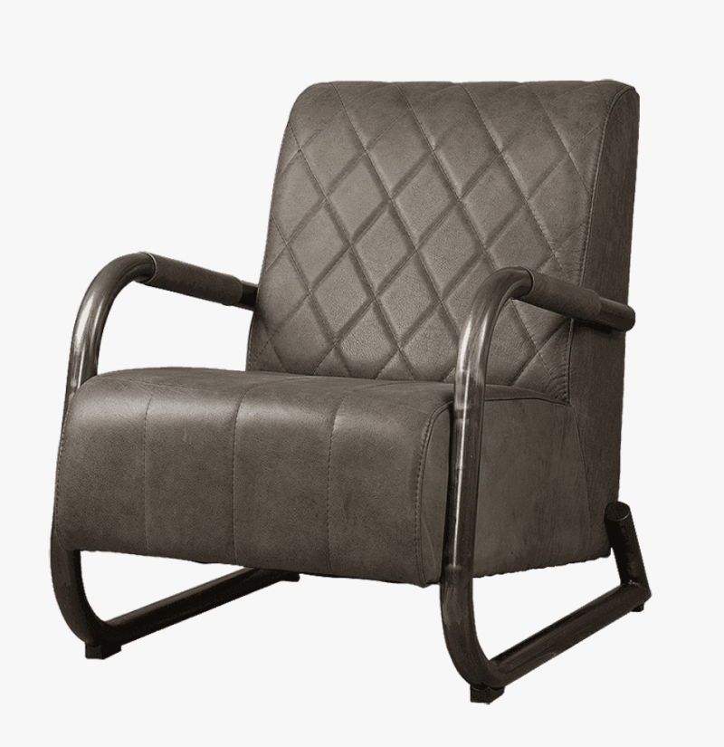 Ranch fauteuil antraciet
