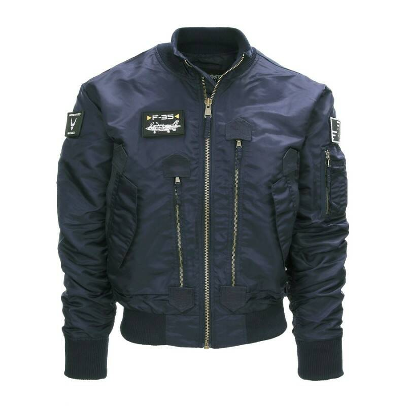 F-35 FLIGHT JACKET Blauw