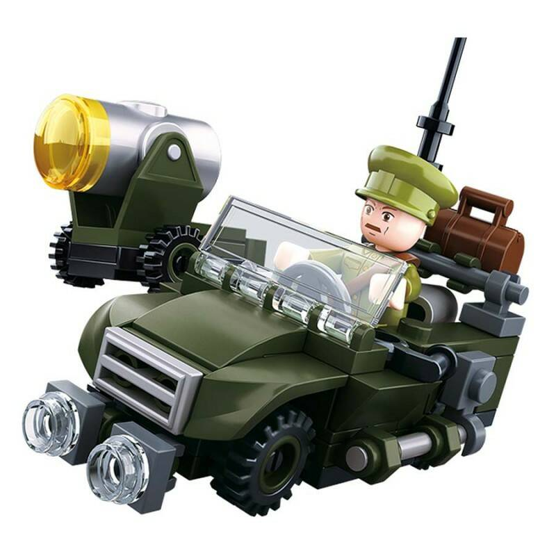 SLUBAN WWII 4IN1 ARMY MODEL B
