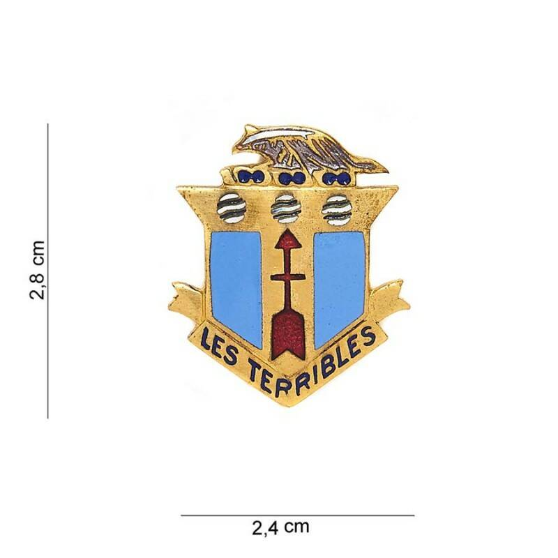 EMBLEEM METAAL 128TH INFANTRY REGIMENT LES TERRIBLES