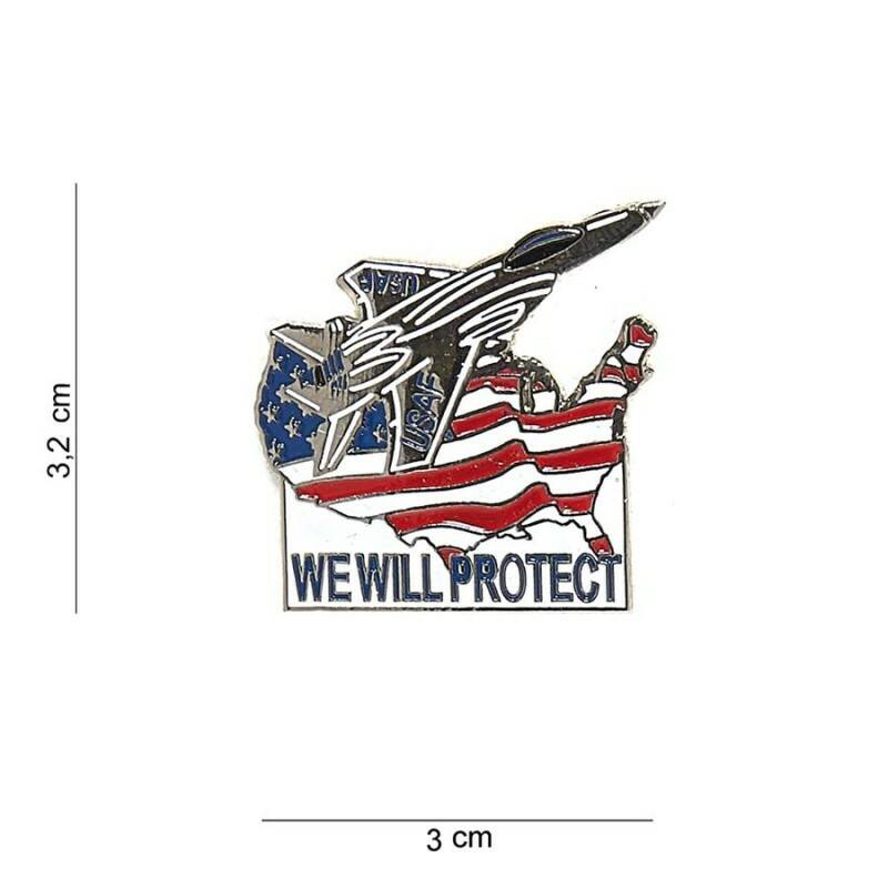 EMBLEEM METAAL WE WILL PROTECT