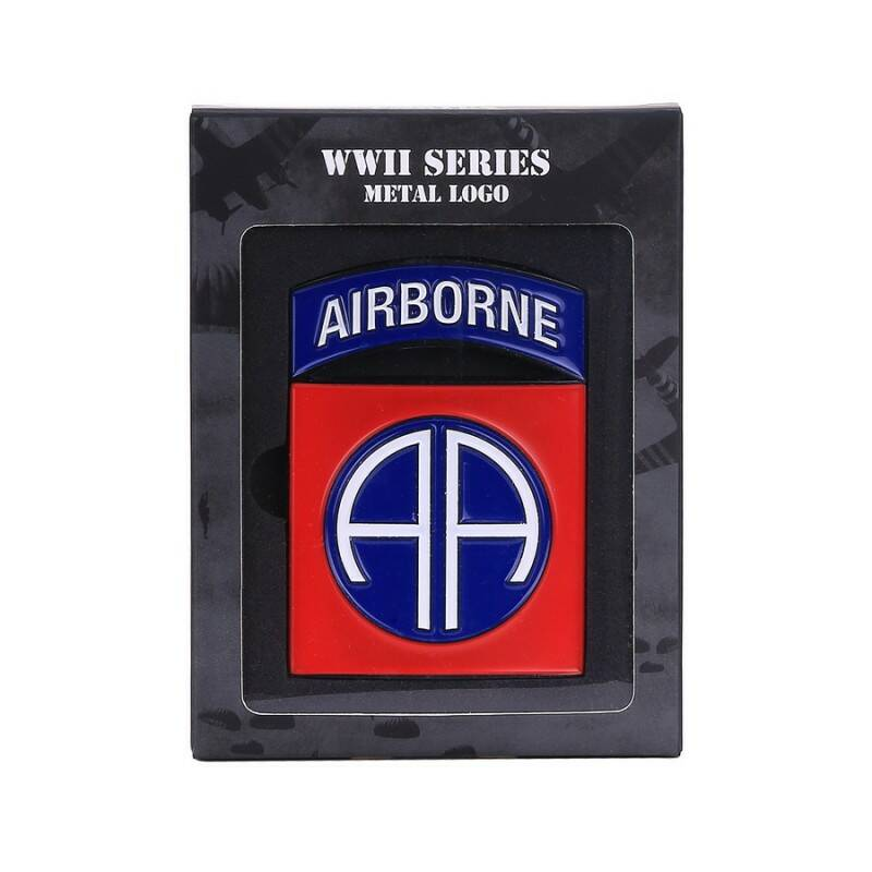METAAL LOGO 82ND AIRBORNE DIVISION
