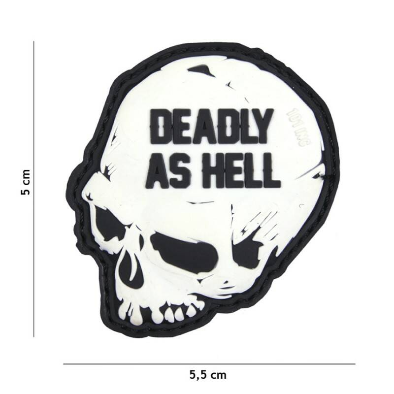EMBLEEM 3D PVC DEADLY AS HELL WIT