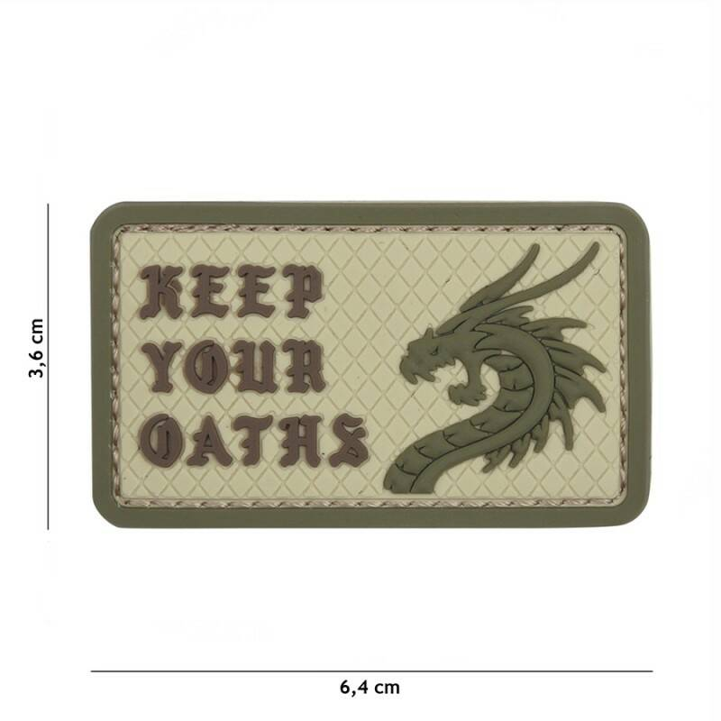 EMBLEEM 3D PVC KEEP YOUR OATHS Coyote #5448