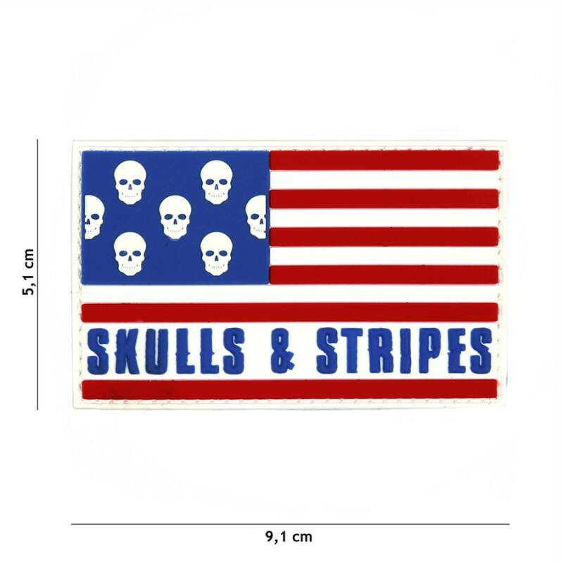EMBLEEM 3D PVC SKULLS & STRIPES BIG SKULLS