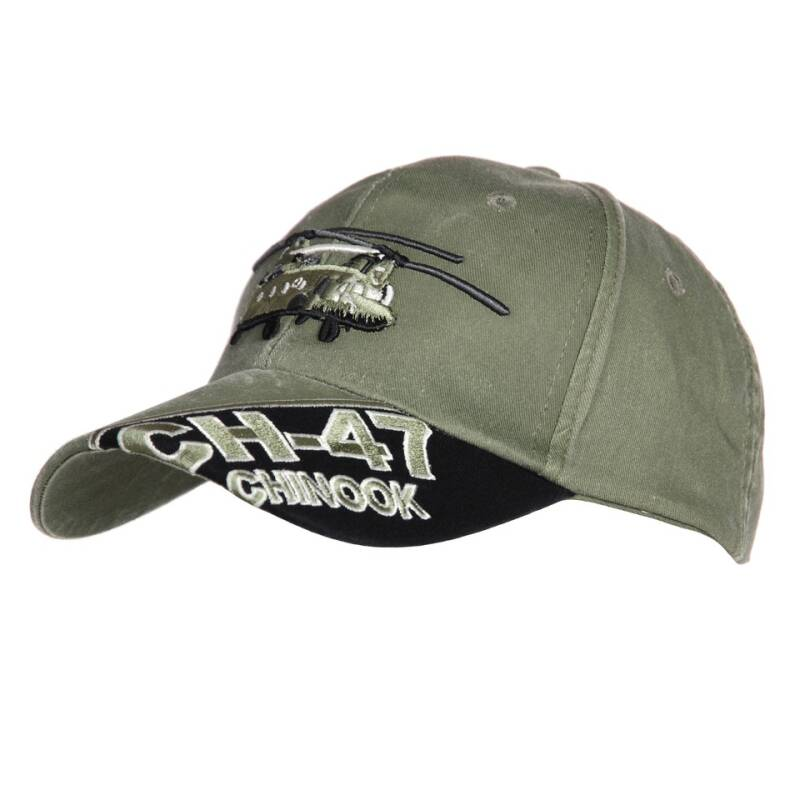 BASEBALL CAP CH-47 CHINOOK STONE WASHED Groen
