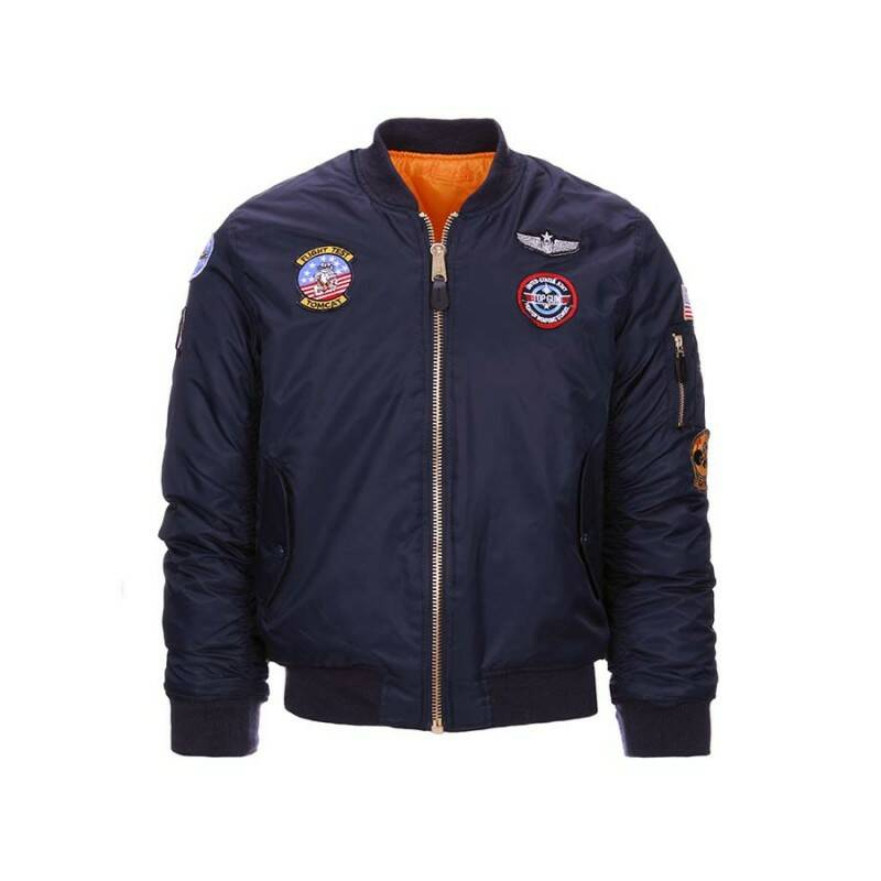 KINDER MA-1 FLIGHT JACKET Blauw