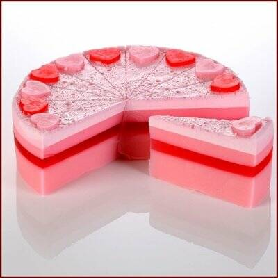 Raspberry Supreme Soap Cake Sliced