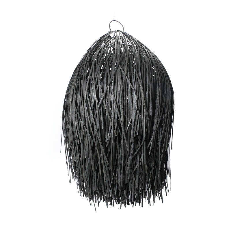The Rattan Shaggy Hanglamp - Black - M