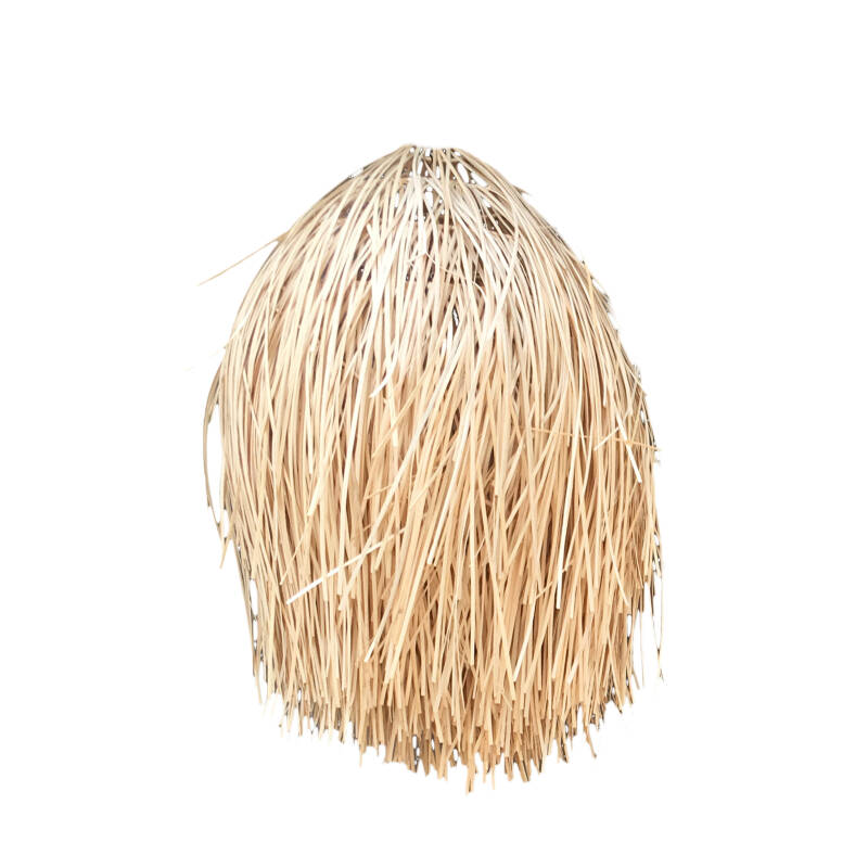 The Rattan Shaggy Hanglamp - Natural - M