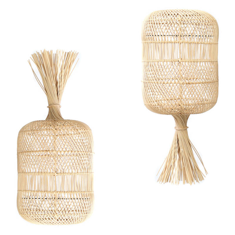 Vloerlamp - hanglamp the Rattan Dumpling -  L Natural