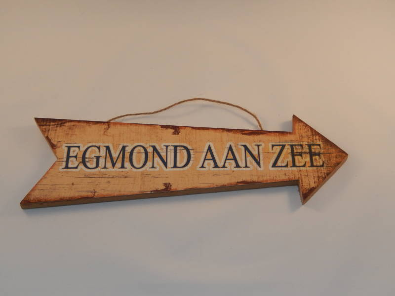 "Bordje ""Egmond aan Zee"""