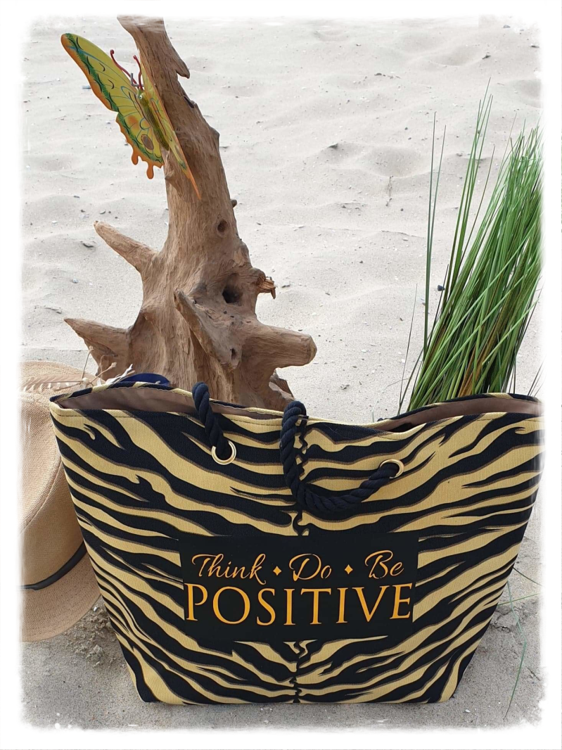 Strandtas Think do be positive