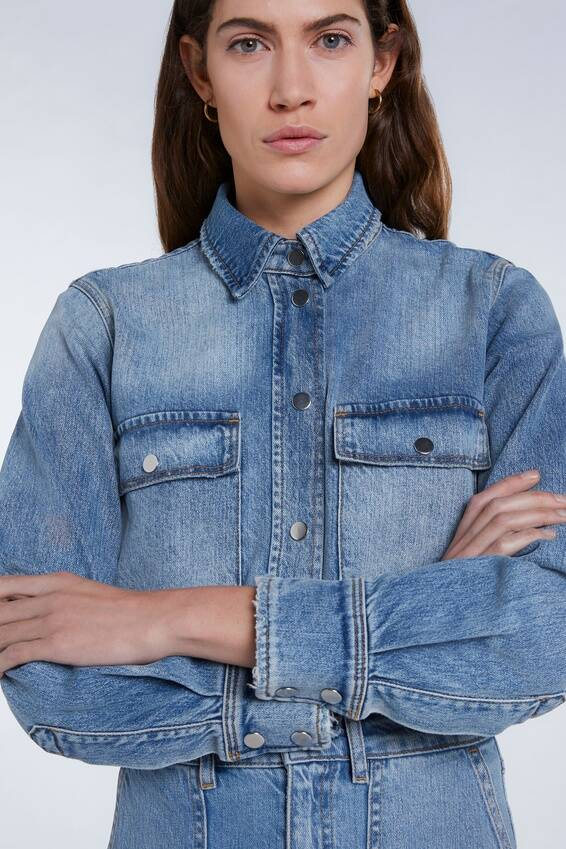 Set Fashion | Vintage stonewashed denim jacket | Bestseller
