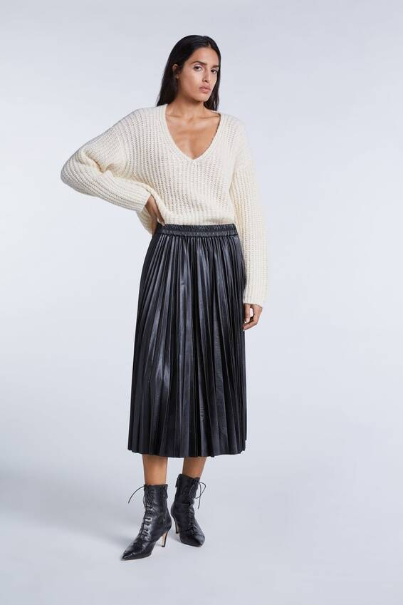 SALE | SET Fashion | Midi Plisse skirt