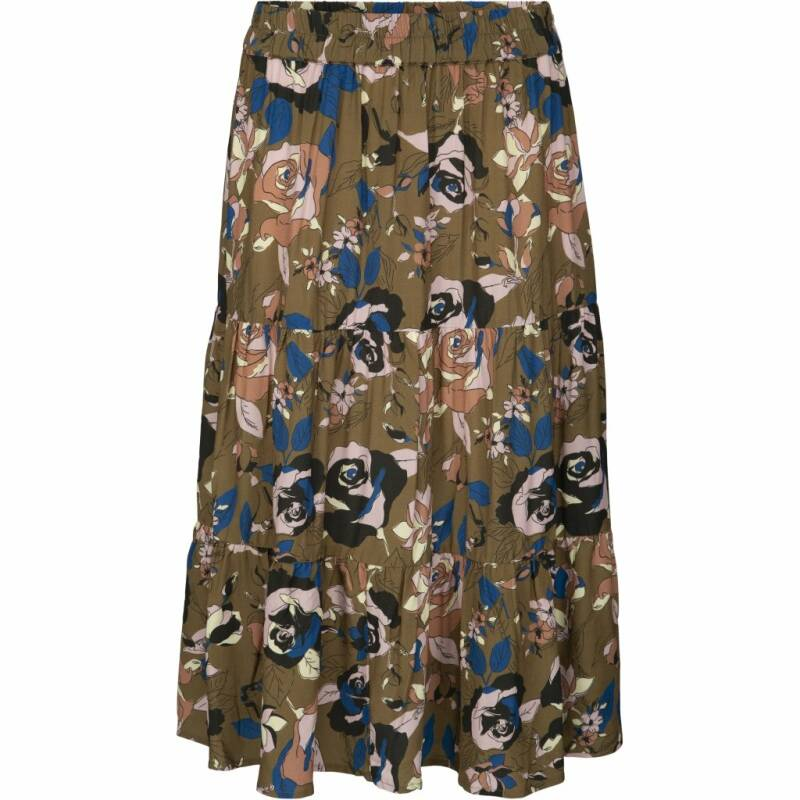 SALE | Minus | Vivie skirt | Olive soft rose print