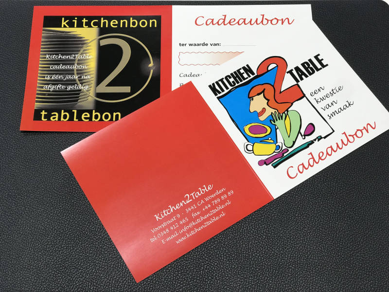 Cadeaubon  Kitchen2table