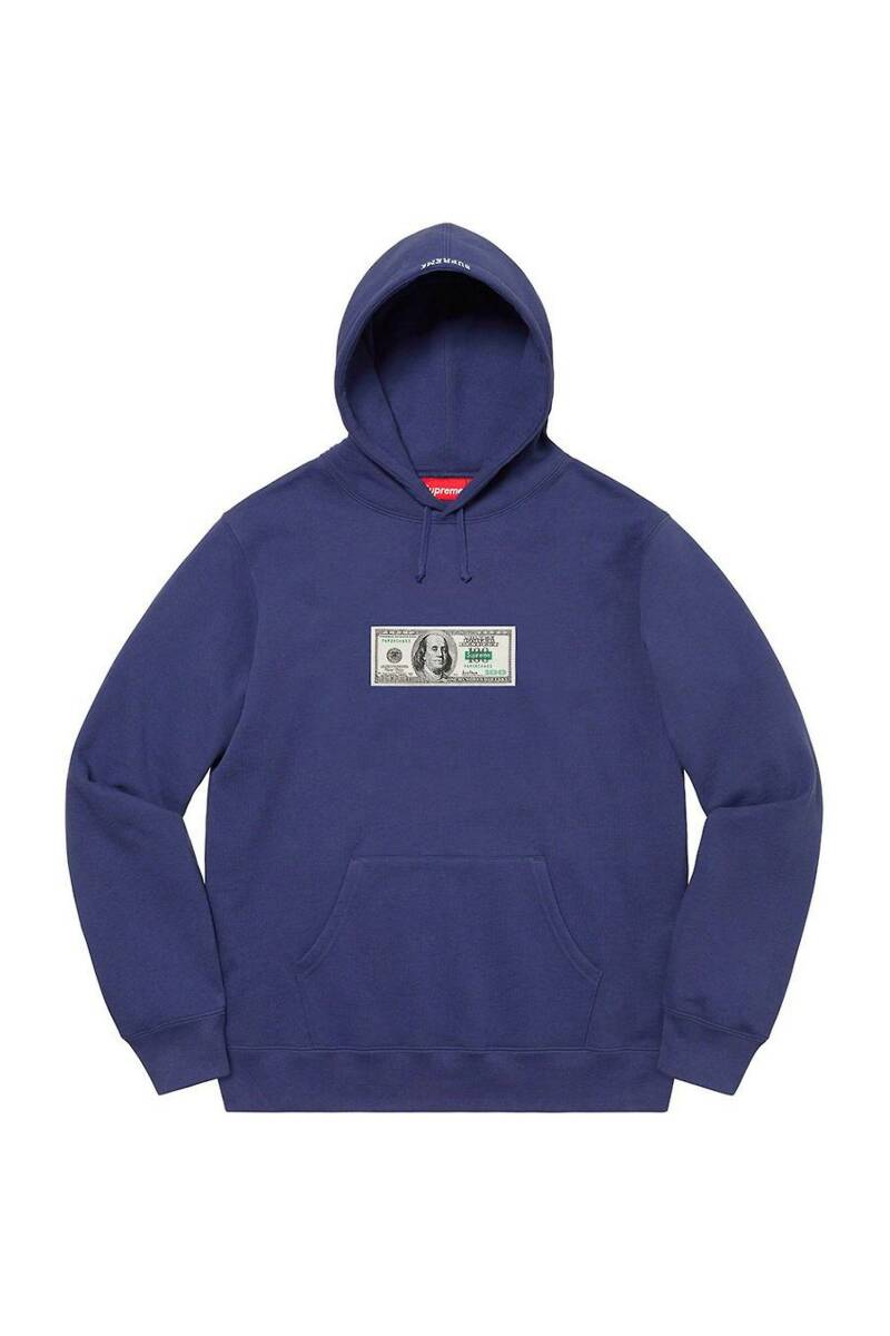 Supreme Franklin Hoodie Washed Navy
