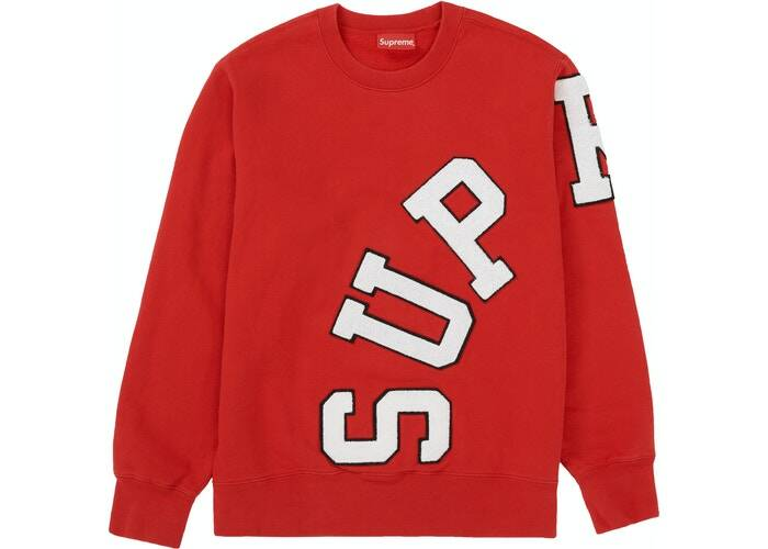 Supreme Logo Crewneck Red