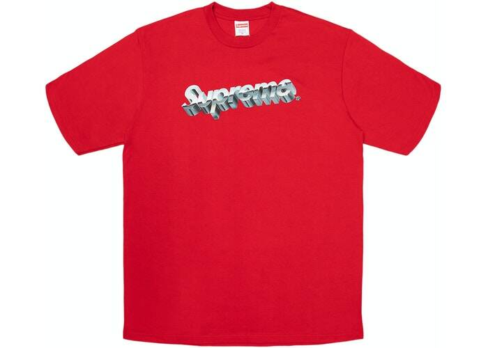 Supreme Logo Tee Red