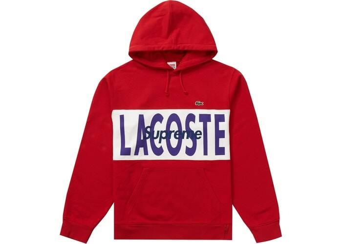Supreme LACOSTE Hoodie Red