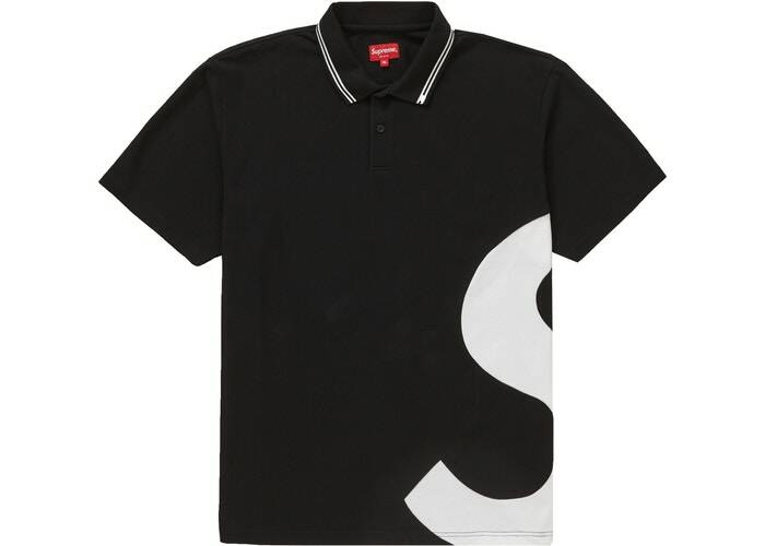 Supreme S Logo Polo Black