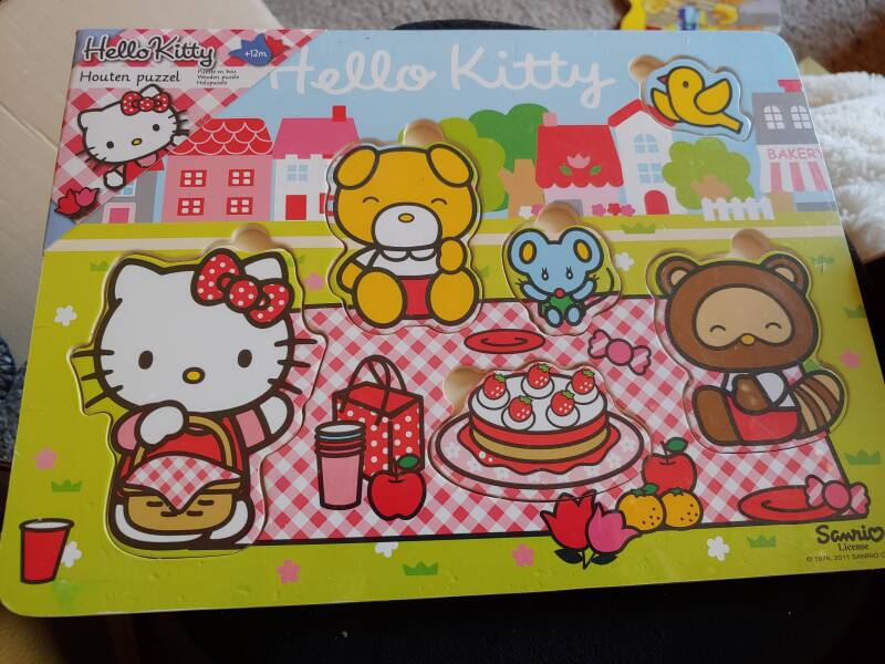 Hello Kitty houten puzzel